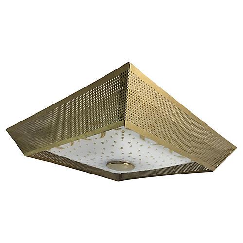 1950s Geometric Ceiling Light