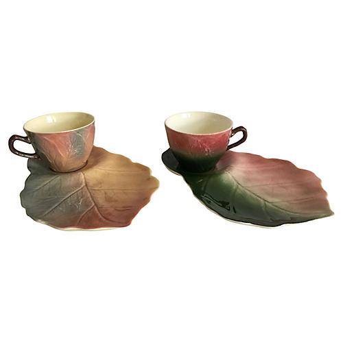 1940s English Tea & Toast Set, Pair