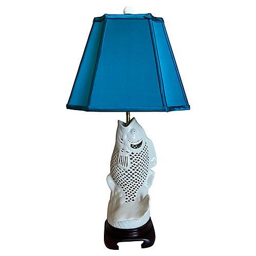 Blanc de Chine Koi Lamp & Shade