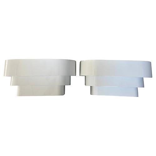 1960s Modern Wall Lights, Pair