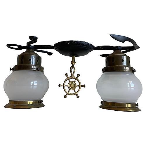 1950s Maritime Flush Light