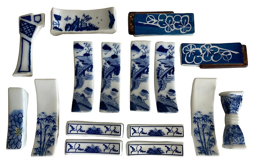 Porcelain Knife Rests, Set/16