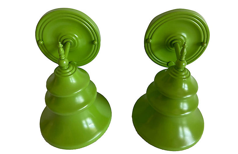 1960s Tiered Wall Lights, Pair