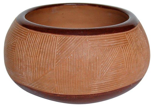 San Juan Incised Redware Bowl