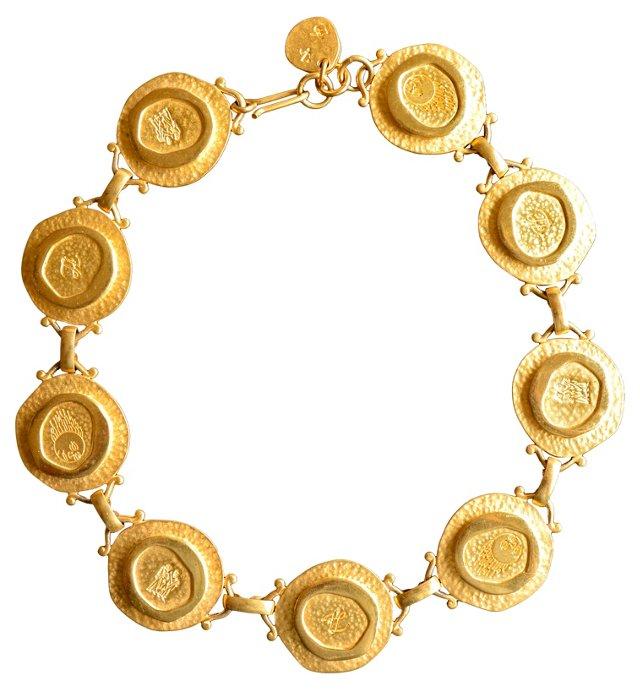 Karl Lagerfeld Medallion Necklace
