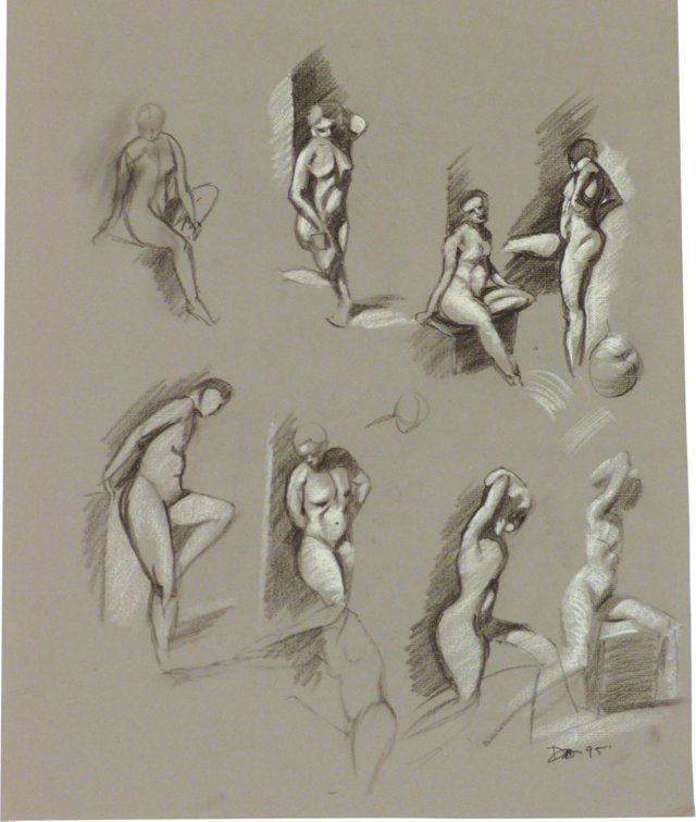 Drawing of  Nude Figures