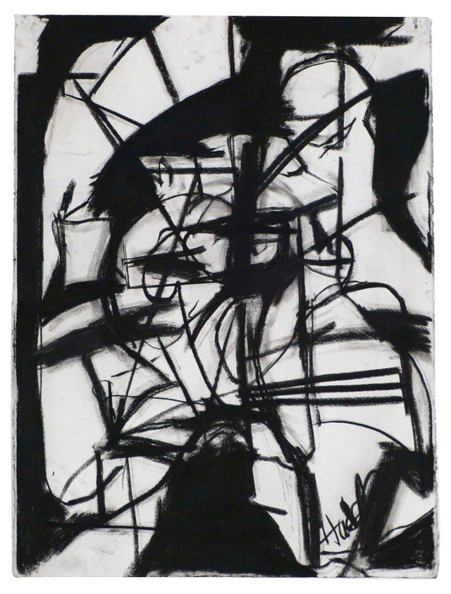 Charcoal Abstract by David Hacker