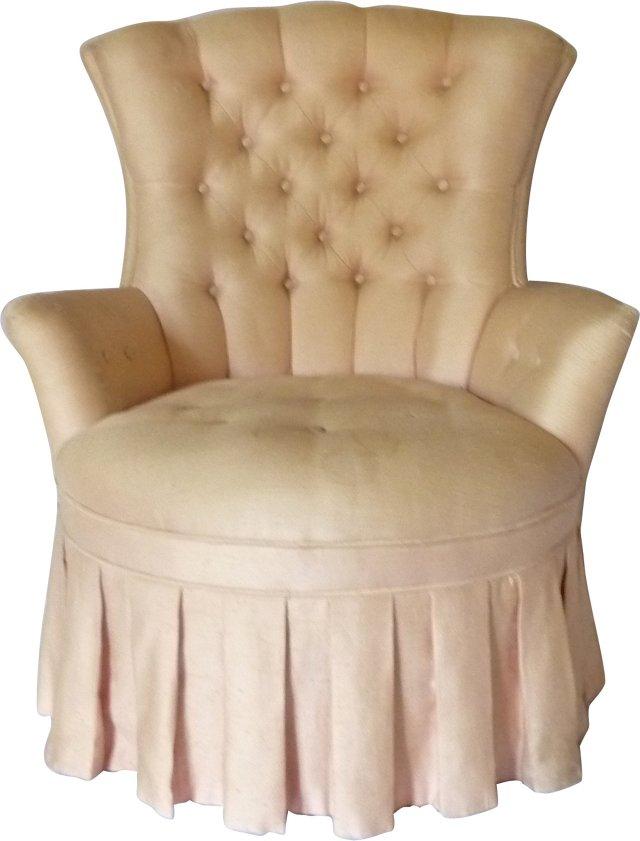 Skirted Boudoir Chair
