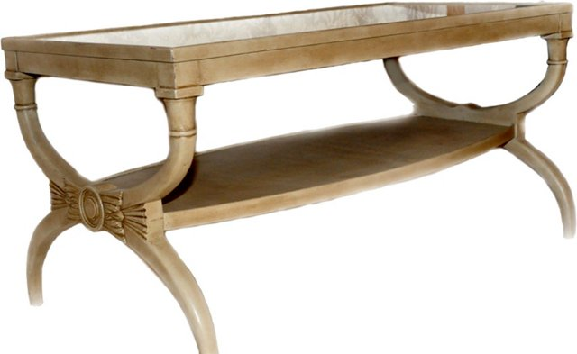 Mirrored Louis XVI-Style Coffee Table
