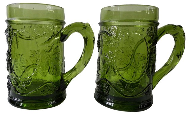 Beer Mugs, Pair