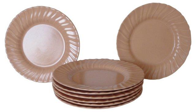 California Pottery Plates, S/8