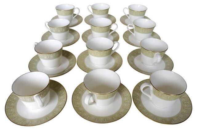 Royal Doulton Cups & Saucers, 24 Pcs