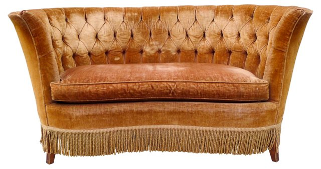 Antique French-Style Settee