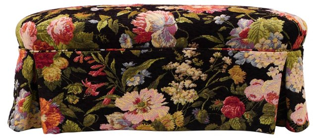 Floral Skirted Bench