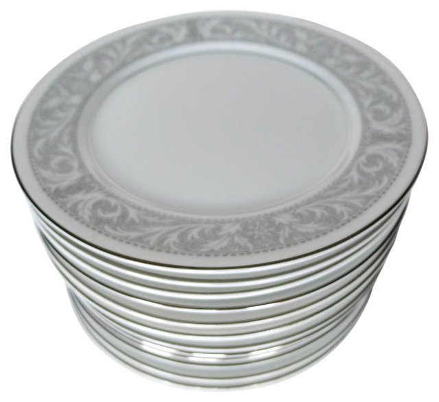 Imperial Porcelain Bread Plates, S/13