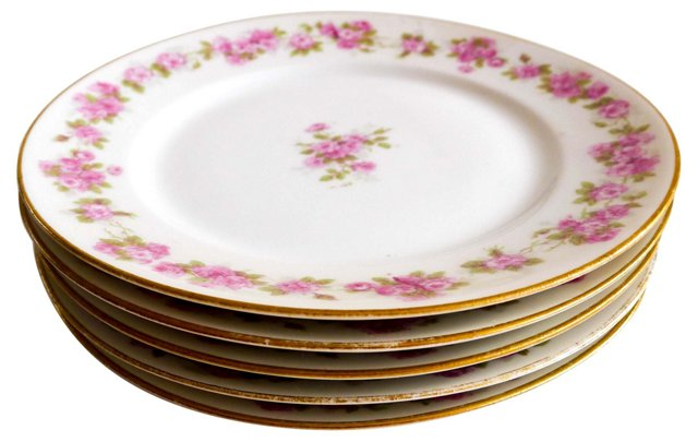 French Limoges Bread Plates, S/5