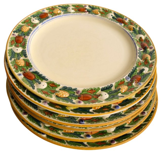 Titian Luncheon Plates, S/6