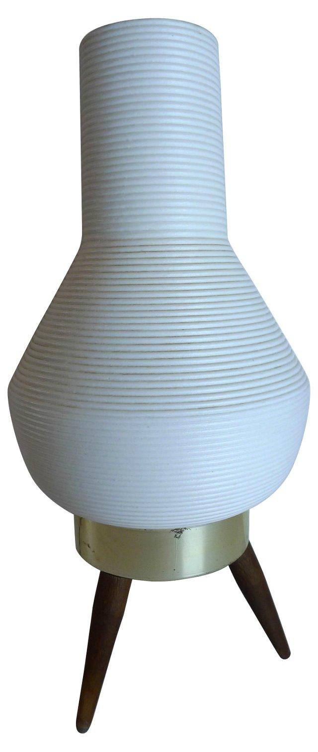 Mid-Century Modern Rocket-Shade Lamp