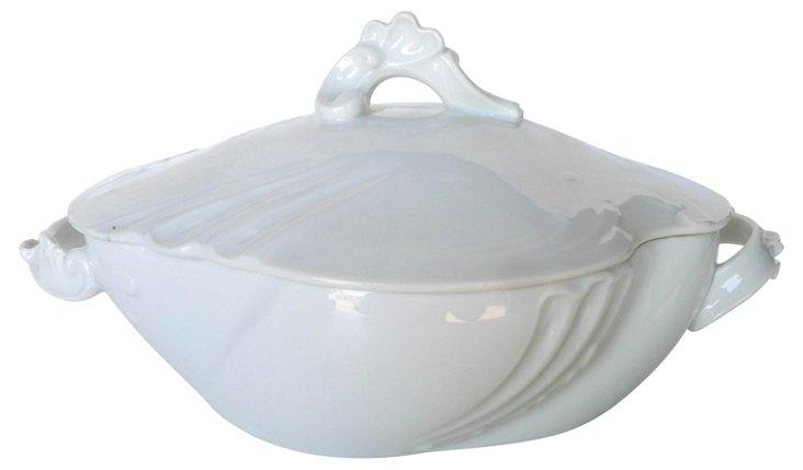 Antique French Art Nouveau Covered Bowl