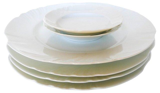 French Nouveau Porcelain Plates, S/6
