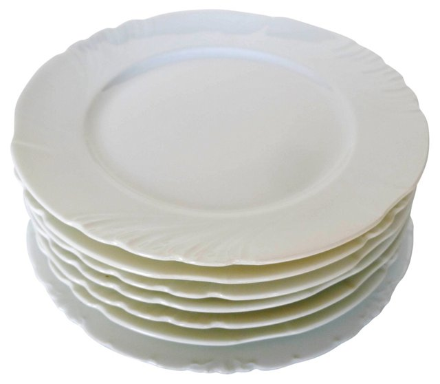 French Nouveau Salad Plates, S/7