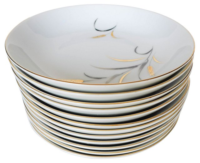 Midcentury Soup Bowls, S/12