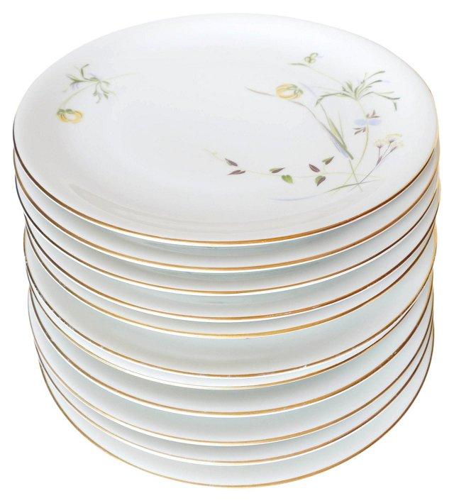 KPM Porcelain Dinner Chargers, S/11