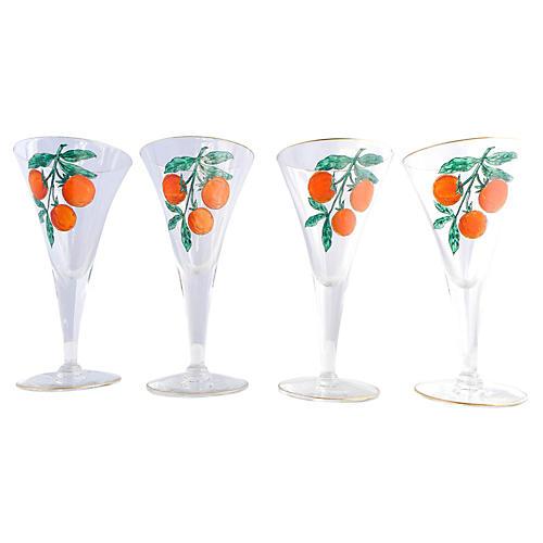 Orange Liqueur Glasses, S/4