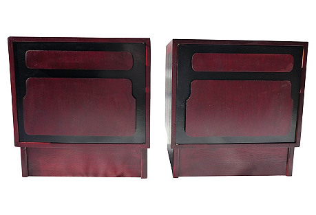 1960s Cabernet Nightstands, S/2