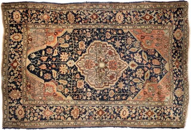 "Antique Ferahan Sarouk, 3'3"" x 4'8"""