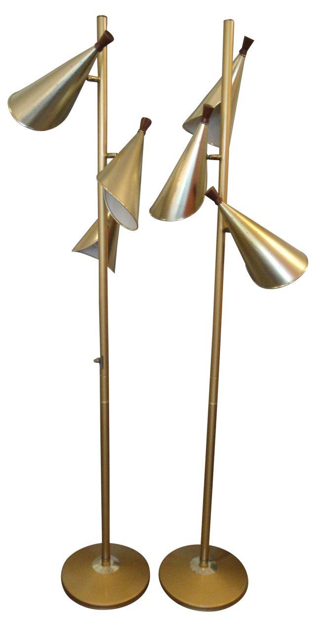 1960s Floor Lamps, Pair