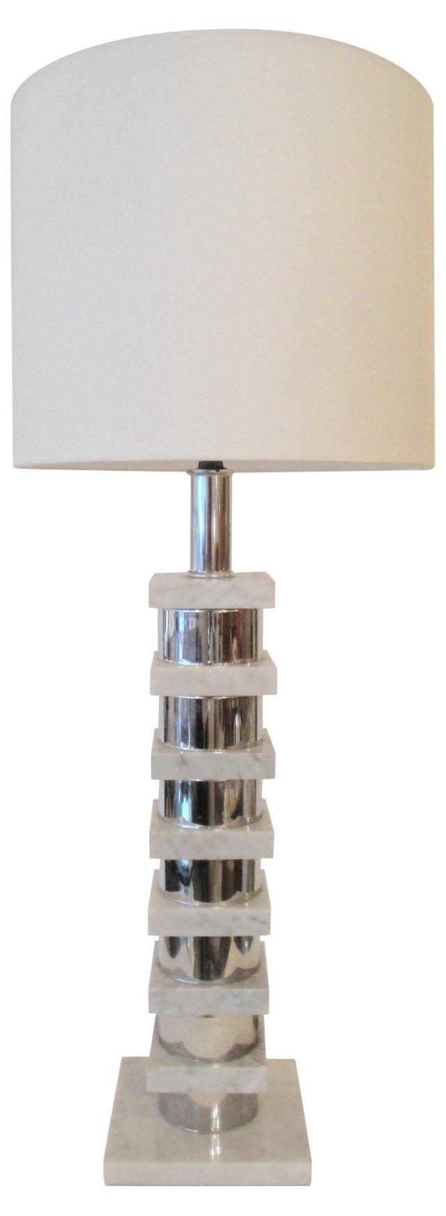 Marble & Chrome Lamp