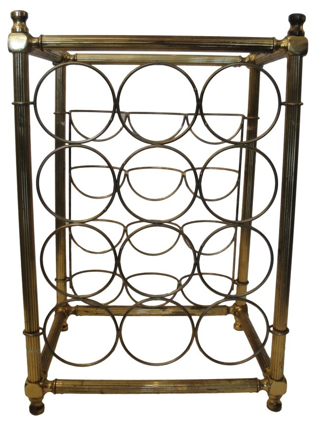 Brass Wine      Rack