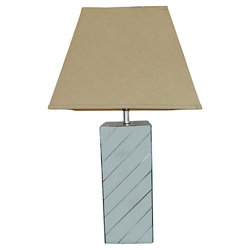 Mirrored Table Lamp w/ Shade