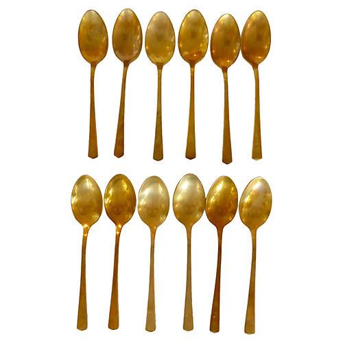 Brass Teaspoons, S/12