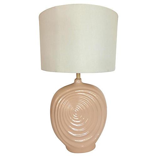 Mid-century Light Pink Ceramic Lamp