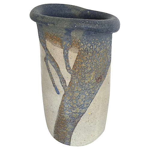 Light Gray & Blue Vase