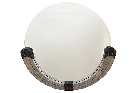 Large M.Smith Tessellated Stone Mirror