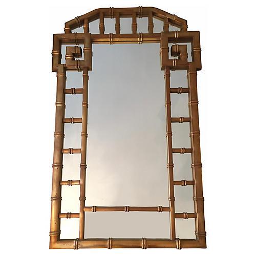 1960s Gold Greek Key Mirror