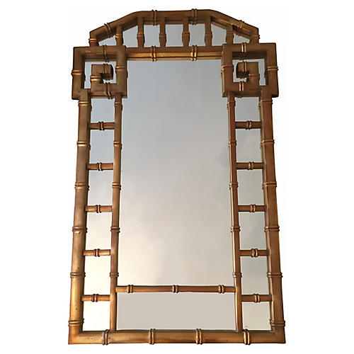 1960s Gold Greek Key Mirror