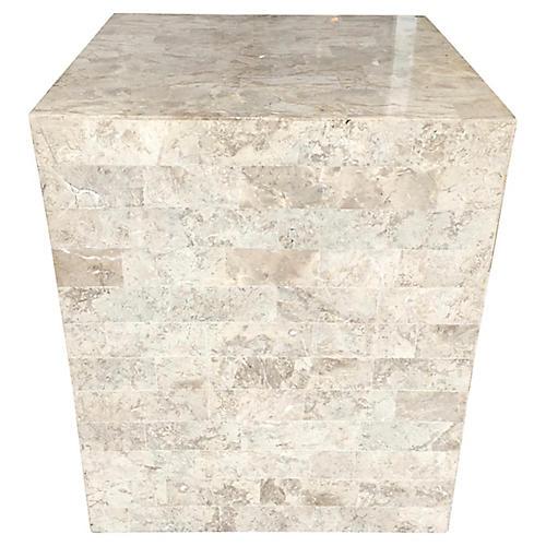 Tessellated Stone Pedestal