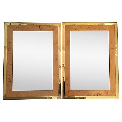 Milo Baughman Mirrors, Pair