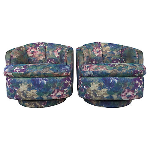 Carson's Swivel Chairs, Pair