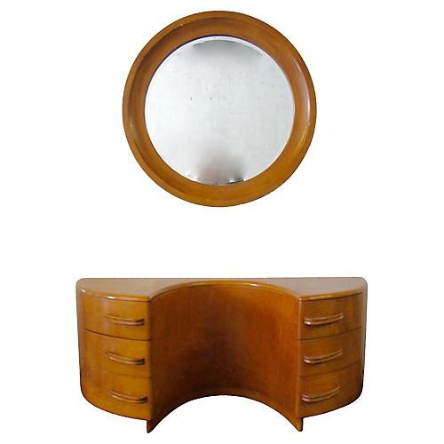 Heywood-Wakefield Vanity & Mirror