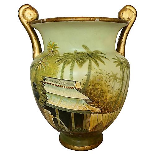 Hand-Painted Ceramic Vase