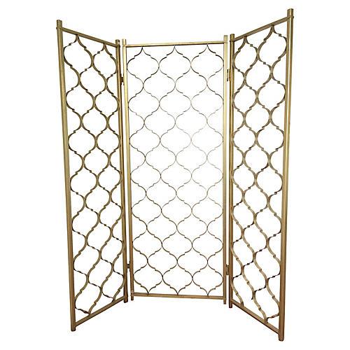 3 Paneled Gold Aluminum Divider