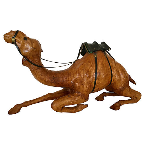 Leather-Covered Wood Camel
