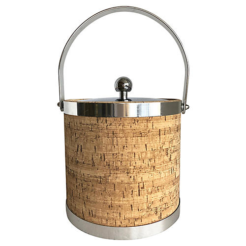 Cork & Chrome Ice Bucket