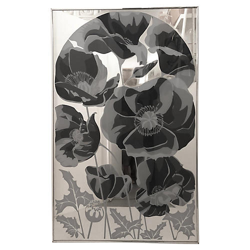 Large Flowers Mirror, C. 1970