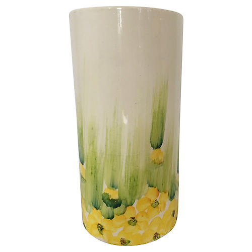 Brazilian Hand-Painted Ceramic Vase